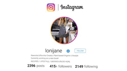 """With more than 400,000 Instagram followers, Loni Jane Anthony is one of the most recognisable """"plant-based organic life"""" influencers in the world."""