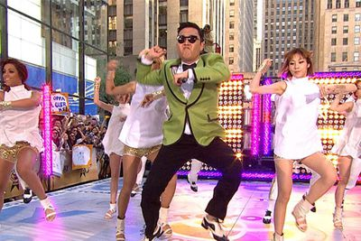 """Suddenly the Gangnam-style YouTube sensation was un-American as old lyrics came to light. In 2002 <b>Psy</b> protested US troops in his native South Korea by smashing a model of a tank at a performance and lyrics like """"Kill those f---ing Yankees."""""""