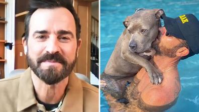 Justin Theroux adopted his beloved dog 'Kuma'.