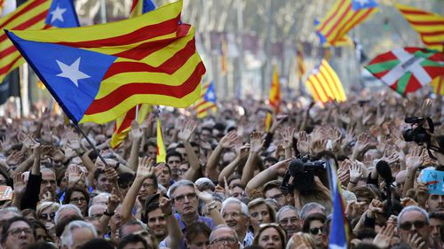 The Catalan parliament's subsequent declaration of independence received no international recognition and provoked a takeover of the regional government by Spanish authorities. (PA/AAP)