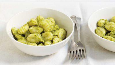 """Recipe: <a href=""""https://kitchen.nine.com.au/2017/08/10/16/55/avocado-pesto-gnocchi"""" target=""""_top"""">Avocado pesto gnocchi</a>"""