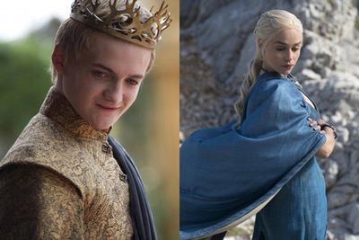 """<i>Game of Thrones</i> fans, here are 15 pictures released by HBO that will whet your appetite for season four like nothing else. There's slimy Joffrey, ethereal Daenerys and the first official peek at Red Viper and an all-new actor playing Daario. Freaking out!<br/><br/><i>GOT</i> returns to Showcase, Foxtel, on Monday, April 7 at 3.30pm two hours after it airs in the US, with an encore screening at 8.30pm.<br/><br/>Author: Adam Bub <b><a target=""""_blank"""" href=""""http://twitter.com/TheAdamBub"""">Follow @TheAdamBub</a></b>"""