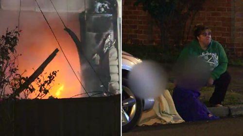 Six children escaped a Cabramatta West house fire. (9NEWS)