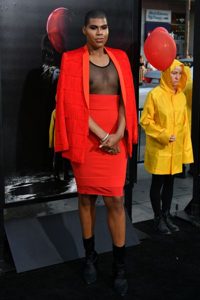 """<p>Move over <a href=""""https://style.nine.com.au/jaden-smith"""" target=""""_blank"""" draggable=""""false"""">Jaden Smith</a> because Magic Johnson&rsquo;s son is owning gender fluidity</p> <p>At the red carpet premiere of the Stephen King horror film <em>It</em> the famed basketballer&rsquo;s son, reality star EJ Johnson, stepped out in a fringed red skirt and jacket.</p> <p>This isn&rsquo;t the first time that the openly gay star of <em>Rich Kids of Beverly Hills</em> and the short-lived spin off <em>EJNYC</em> has thrilled in womenswear at premieres and awards nights. </p> <p>Johnson, 25, has become a champion of androgyny that goes beyond the tired trope of women in men&rsquo;s suits.<br /> Smith has also dipped his painted toe into the waters of gender fluidity but Johnson isn&rsquo;t buying it.</p> <p>In a <em><a href=""""https://www.nytimes.com/2017/09/02/style/ej-johnson-rich-kids-of-beverly-hills.html?_r=0"""" target=""""_blank"""" draggable=""""false"""">New York Times</a></em> article on the weekend, Johnson took a shot at Hollywood offspring Jaden Smith for teaming up with Louis Vuitton in campaigns wearing traditionally female attire.</p> <p>&ldquo;If you&rsquo;re going to do it, I think you should go with somebody who&rsquo;s actually doing it because they genuinely get it as opposed to somebody who just has a name and was doing it just to be out there,&rdquo; Johnson said.</p> <p>Johnson also revealed that he plans to continue identifying as a man while embracing gender fluidity in his style of dress. </p> <p>&nbsp;&ldquo;I&rsquo;m pretty comfortable with myself,&rdquo; he said. &ldquo;That conversation was just about people trying to put me in a box.&rdquo;</p> <p>See EJ Johnson&rsquo;s gender-bending best here.<br /> <br /> </p>"""