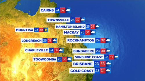 Queensland is also tipped to cop a massive downpour. (9NEWS)