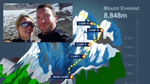 Maria Strydom and Dutch climber Eric Arnold died on the climb. (9NEWS)