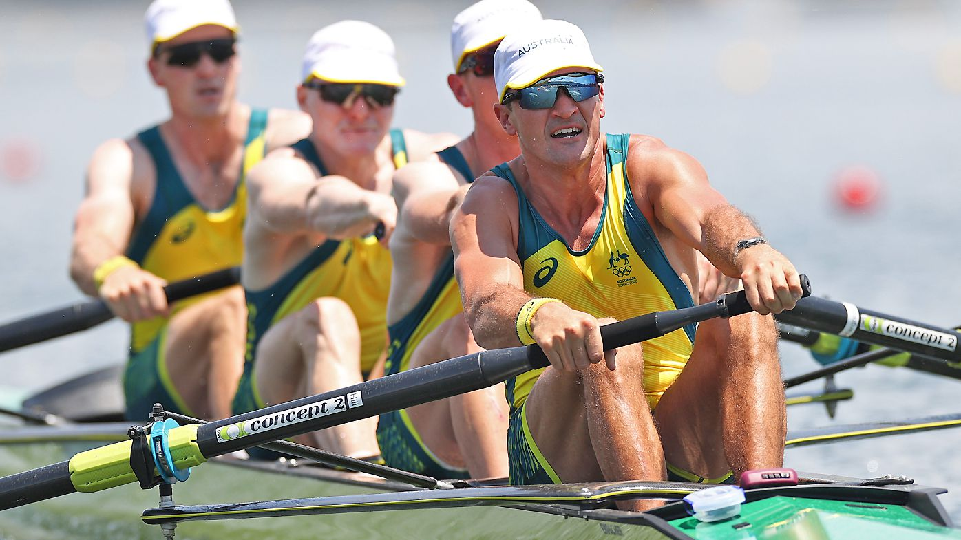 British clanger almost ruins men's four race as Aussies claim famous gold medal