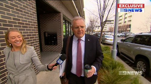 Scott Morrison said he will work with colleagues on his first official day as Prime Minister to start organising his Ministry.
