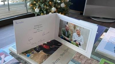 The Earl and Countess of Wessex's Christmas card, December 2020