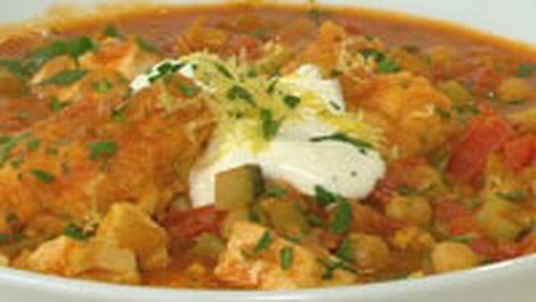 Morrocan fish and dumpling soup
