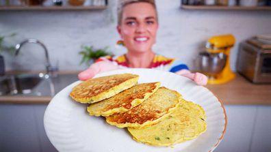 Jane de Graaff makes quarantine kitchen chickpea pancakes