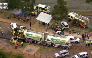 Child dead, several injured after truck smashes into cars south of Sydney