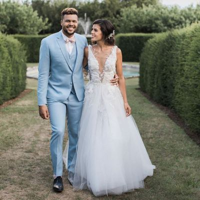 <strong>Jo-Wilfried Tsonga and Noura El Swekh</strong>