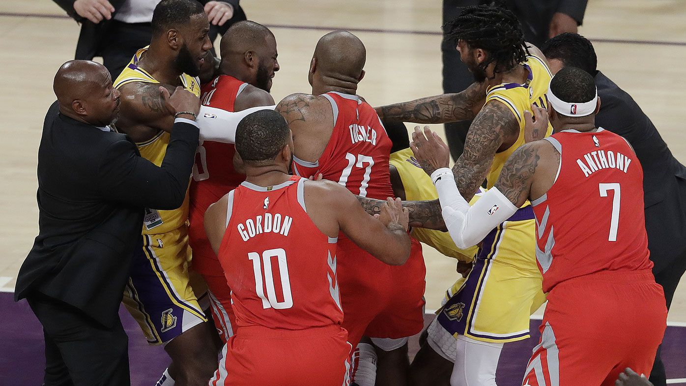 Rondo, Ingram and Paul facing bans for fighting in LeBron's home debut
