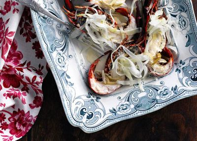 """<a href=""""http://kitchen.nine.com.au/2016/05/17/10/36/shane-osborn-grilled-marron-with-fennel-salad-and-green-olive-and-vanilla-velout"""" target=""""_top"""">Grilled marron with fennel salad and green olive and vanilla velouté<br /> </a>"""