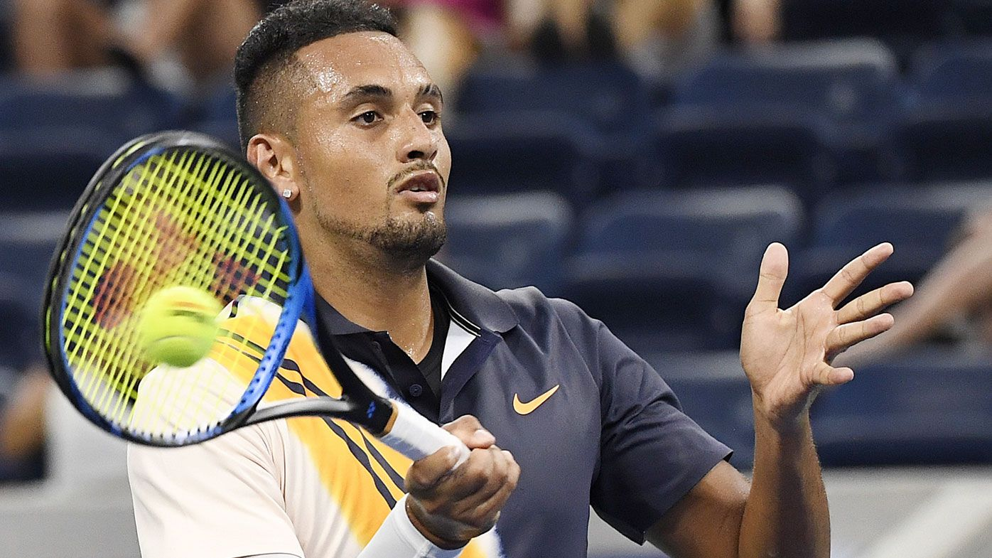 Australia's Nick Kyrgios dogged by tanking accusations during first round match against Radu Albot at US Open