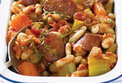 Quick bean and chorizo cassoulet