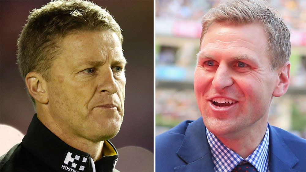 Richmond coach Damien Hardwick and Port Adelaide legend Kane Cornes trade barbs over Tigers' woes
