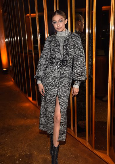 "<p>V Magazine hosted a star-studded bash in New York City, last night, to honour legendary fashion designer Karl Lagerfeld.</p> <p>But one person who may not have been there a few years ago is model Gigi Hadid.</p> <p>The 22-year-old revealed she wasn't sure if the creative director of Chanel even knew her name when she attended her first-ever casting for the French fashion house in 2014.</p> <p>""It was my first fitting for my first Chanel show that I got, and obviously, you expect for Karl to be there in the fitting when you get there,"" Hadid said to <a href=""http://wwd.com/eye/parties/mariah-carey-welcomes-hero-karl-lagerfeld-to-new-york-11034559/"" target=""_blank"" draggable=""false"">Women's Wear Daily.</a></p> <p>""But I wasn't quite prepared because the second I walked into the building Karl and Anna (Wintour) walk out together, going to lunch — and I hadn't met either of them yet,""</p> <p>""So, walking into that and just having to introduce myself like 'Hi, I'm Gigi, I don't know if you care'.""</p> <p>Now, as one of Lagerfeld's go-to models, Hadid arrived last night in head-to-toe Chanel alongside her sister Bella and mother Yolanda. </p> <p>The stylish trio joined other big names in the fashion and entertainment industries such as Naomi Campbell, Joan Smalls and Australian film director Baz Luhhrman, to celebrate the illustrious career of Lagerfeld.</p> <p>Mariah Carey finished off the night with a performance of  some of her biggest hits such as 'Touch my body', 'Hero' and 'We belong together'.</p> <p>Click through to see more of Gigi, Bella and  the other stylish celebrities who came to celebrate Karl.</p>"