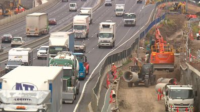 Works have already removed trees, a fence and a 10-metre gap which reduced noise from the nearby freeway.