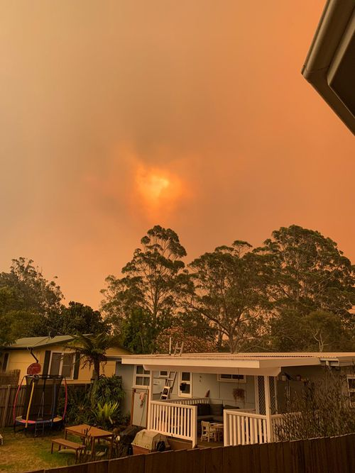 Red skies and smoke; a sight that is becoming all too familiar in Australia.