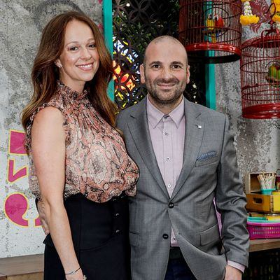 George Calombaris and Natalie Tricarico