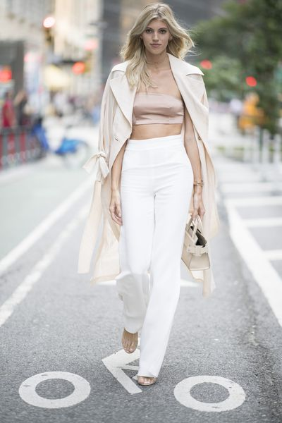 Devon Windsor at the Victoria's Secret Casting Call in New York on August 21.