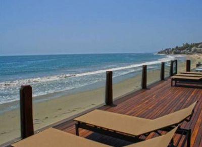 Private beach entry