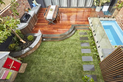 The backyard is primed for hosting guests. (The Block)
