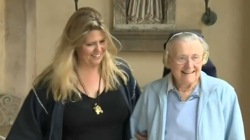 Sister Catherine Rose Holzman, 89, collapsed in court. (KCAL9)