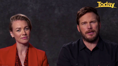 Chris Pratt told Wilkins 'The Tomorrow War' was shot pre-pandemic but suffered release setbacks as the world shutdown.