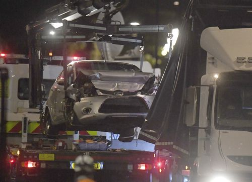 The Ford was a privately owned car that had travelled from Birmingham to London prior to the crash.