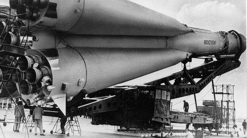The Vostok 1 used to rocket Yuri Gagarin into space.