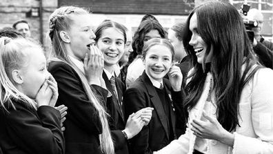 The Duchess of Sussex visits Robert Clack Upper School in Dagenham on March 6 for IWD.