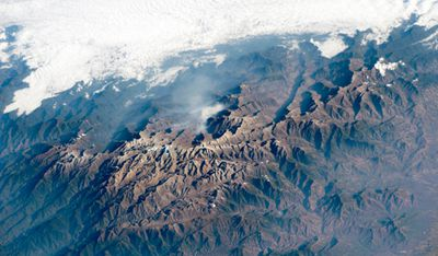 The peaks of Colombia's Santa Marta massif. Image taken February 27.