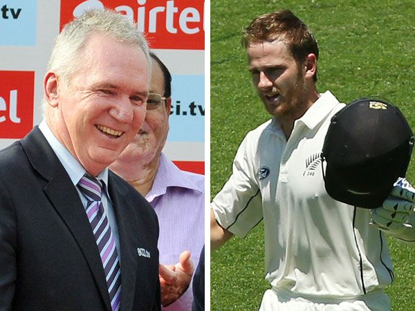 Allan Border and Kane Williamson. (AAP and Getty)