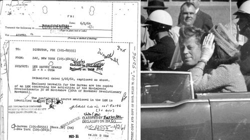 An example of one of the secret documents revealed today. (National Archive/AP)