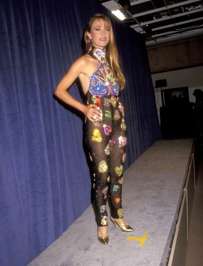 Jane Seymour, Versace catsuit, Emmy Awards, red carpet