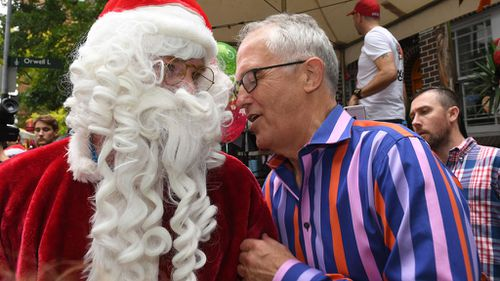 It's not clear whether the prime minister made Santa's naughty or nice list. (Image: AAP)