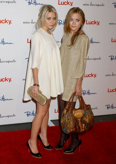 Mary Kate and Ashley Olsen at a Lucky Magazine launch in Los Angeles, November, 2005