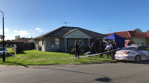 Police uncovered the weaons cache at the home after the man was taken to hospital with a gunshot wound to his left hand. (9NEWS)