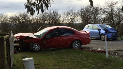 The driver of the second vehicle suffered non-life threatening injuries. (9NEWS)