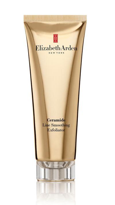 "<a href=""http://www.elizabetharden.com.au/product/35/Ceramide-Line-Smoothing-Exfoliator/ "" target=""_blank"">Ceramide Line smoothing Exfoliator, $65, Elizabeth Arden</a>"