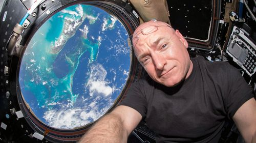 Scott Kelly aboard the International Space Station. (AP).