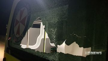 paramedics duck for cover as vandals attack ambulance in yanco