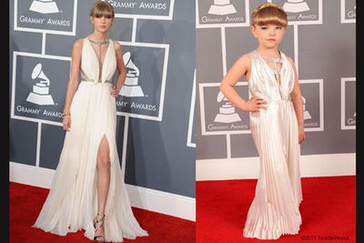 """<b><a target=""""_blank"""" href=""""http://celebrities.ninemsn.com.au/slideshowajax/283691/too-cute-kid-versions-of-2013-grammys-stars.slideshow"""">Click here to see the 2013 Grammys Toddlewood slideshow!</a></b>"""