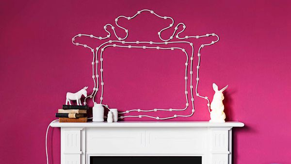 Electrical cord wall decoration