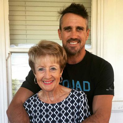 Lee Carseldine and his late mother Beth on Mother's Day in 2019.