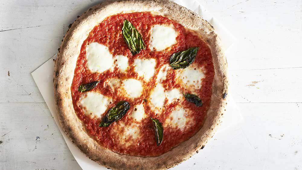 Stefano Manfredi's classic Margherita pizza