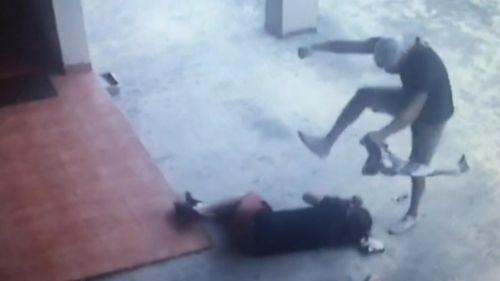 The Campsie assault was captured on CCTV. (9NEWS)